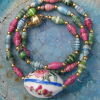 Easter Egg Surprise Necklace in Paper Beads