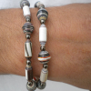 A paper bead necklace for dad