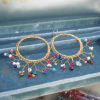 Crocheted Filigree Hoops