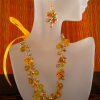 Ribbon Necklace and Earrings Set