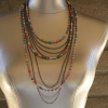 Multi Strand Paper Beads Necklace