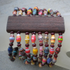 Eight Strand-Paper Bead Bracelet
