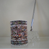 Paper Beaded Pencil Holder