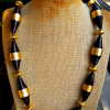 Chocolate Brown And Gold Bead