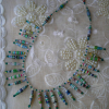 Green Bicone Beads