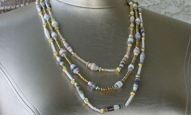 How to make paper bead jewelry