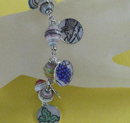 Aesop's Fables Paper Bead Bracelet
