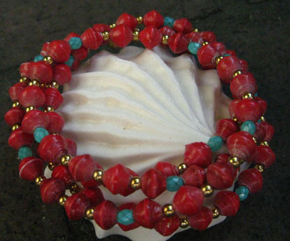 Two strand necklace doubles as a bracelet