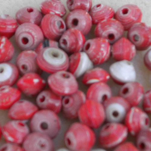 8 mm red paper beads (aubreysbeads.com)