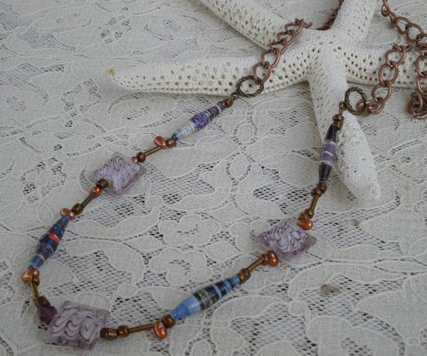 Paper bead creation by Pamela Rae