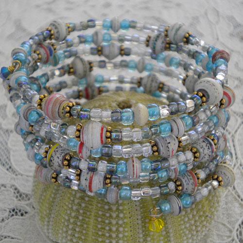 7 coils for 7 days paper bead bracelet
