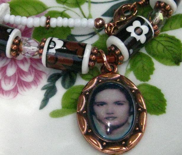 My mother's photo set with Diamond Glaze