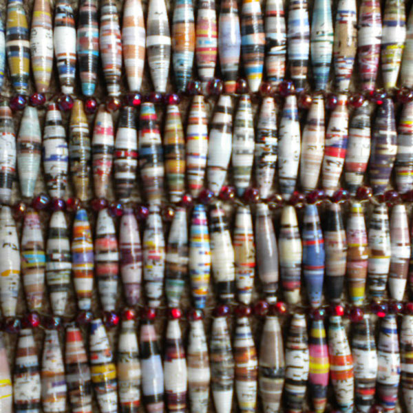 Strips of paper bead tubes