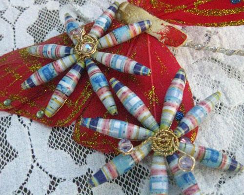 Paper bead flowers