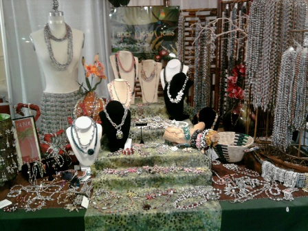 Our small booth at the Pasadena Bead and Design Show