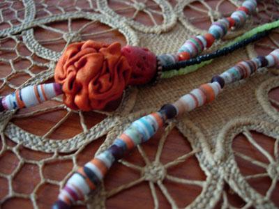 With Orange Fabric Bead
