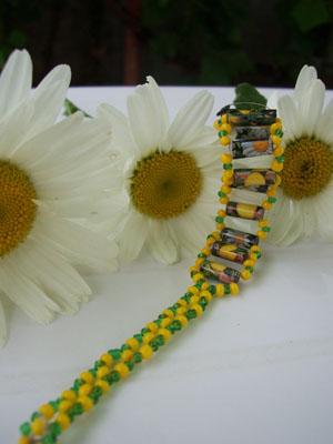 Garden Magazine Paper Beads