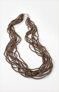 Long Cocoa Bead Necklace by Jjill