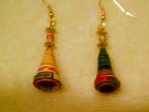 Emily's Paper Bead Earrings