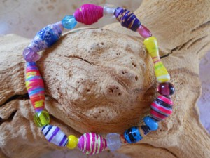 Paper Beads Elastic Bracelet