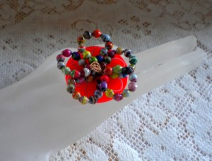 Paper Bead Button Ring