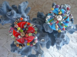 Paper Bead Button Rings