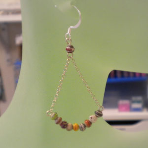 Small Paper Beads Earrings