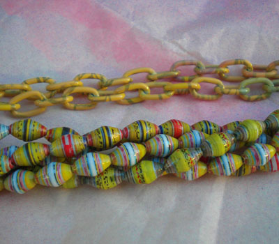 Colored Chains and Paper Beads