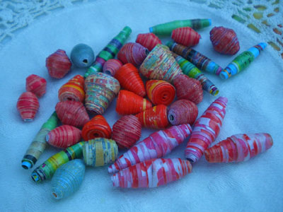 Ashley's paper beads
